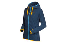 Bergans Cecilie Lady Fleece Jacket dark steel blue/sunflower